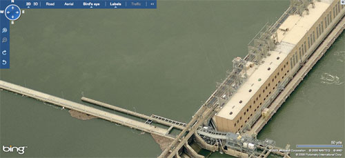 Microsoft Bing birds eye view of Safe Harbor