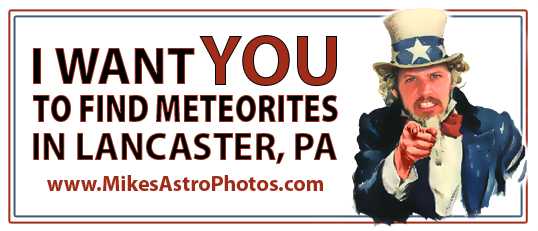 Meteorite hunters wanted!