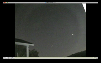 High Res Frame of Pittsburgh Meteor Video