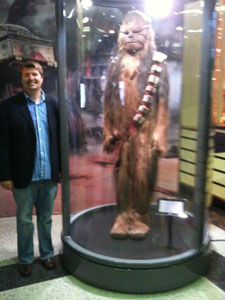 Mike With Chewbaca