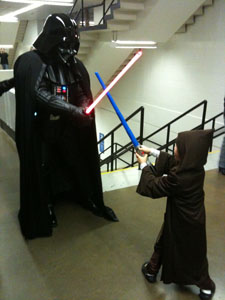 Darth Vader Fighting Youngling