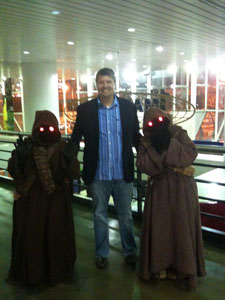 Mike with some Jawas