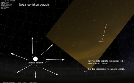 Leonids Meteor Picture Star Map