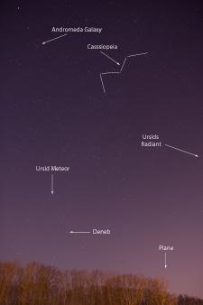 Ursid Meteor - Annotated