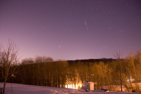 Meteor or Iriduim Flare - December 24th, 2009 4:24 AM EST