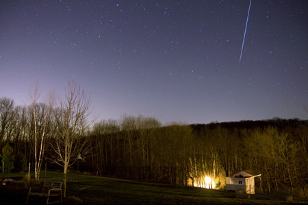 Meteor Over Observatory - December 17th, 2009