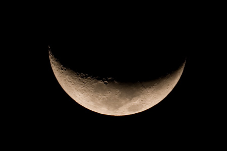 Waxing Crescent Moon - Full size