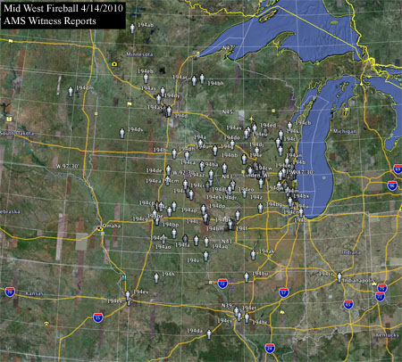AMS Reports For Wisconsin Fireball