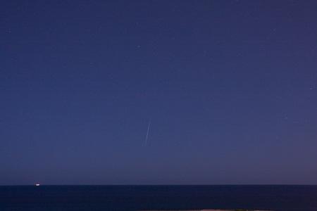 Meteor Over Ocean