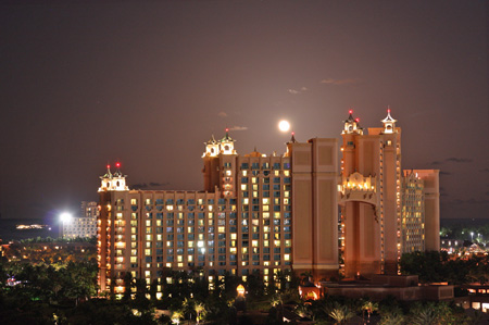 Moon Rising Over Atlantis
