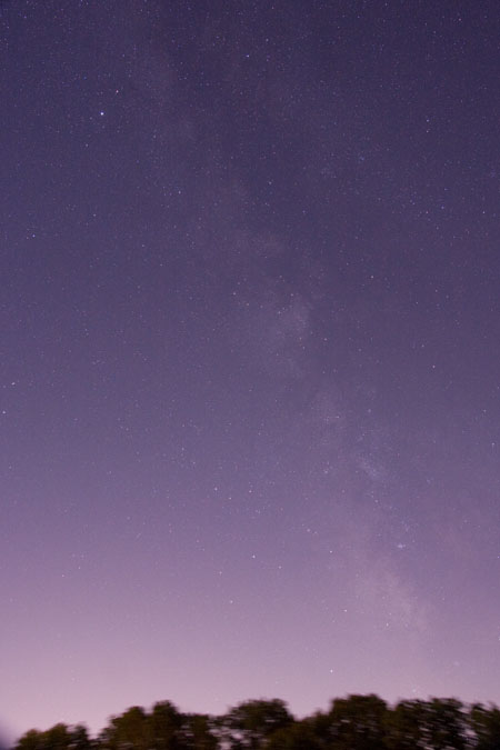 Milkyway on Southern Horizon - July 4th, 2010 1:40 AM