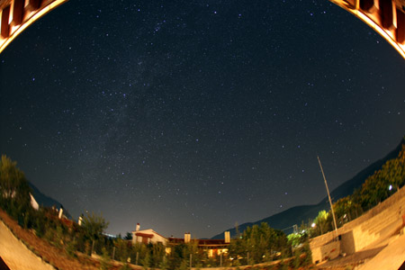 Milkway over Parnassos Mountains - Arachova Greece - October 7th, 2011