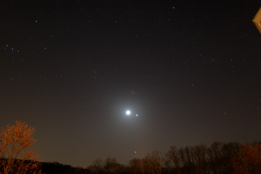 Moon, Venus, Jupiter - March 26th, 2012