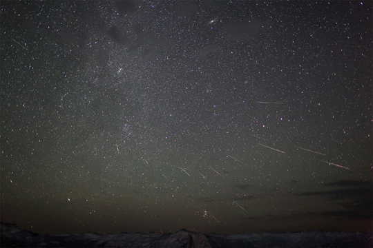 Composite Image of Perseid Meteor Shower - August 12th, 2012