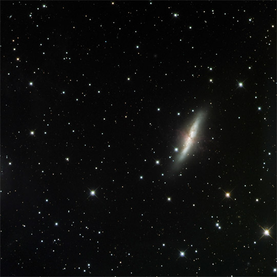 Messier 82 - A Galaxy in Peril