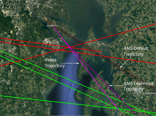 Default, Enhanced & Video Trajectories for June 6th, 2017 Fireball