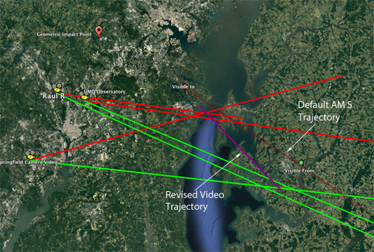 Video Trajectory Estimate for June 6th, 2017 Fireball